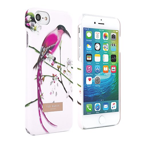 iPhone 7 Case, Official Ted Baker® SS16 Snap on Hard shell Case for iPhone 7 Luxury Ted Branded Flower Design Case for Women in Soft Feel Back Hard Shell - MARIEL - Nude