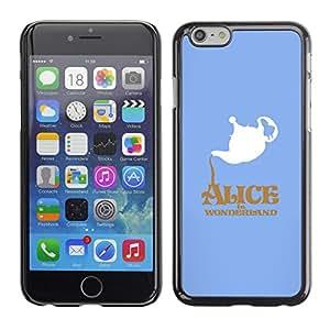 // PHONE CASE GIFT // Duro Estuche protector PC Cáscara Plástico Carcasa Funda Hard Protective Case for iPhone 6 / Alicia en el país Wonderlnd /