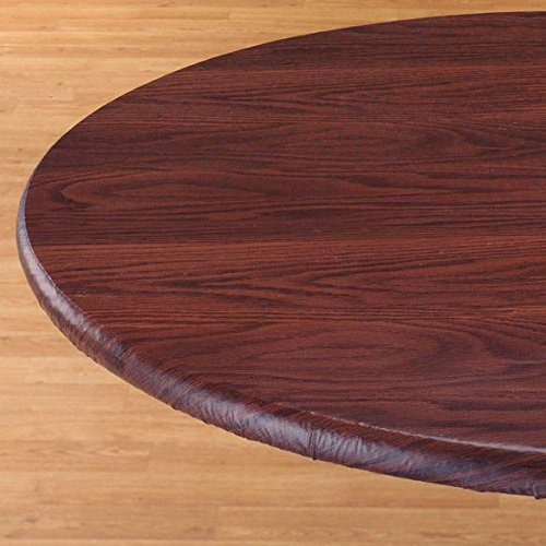 Woodgrain Elastic Table Cover Size: Small, Finish: Mahogany