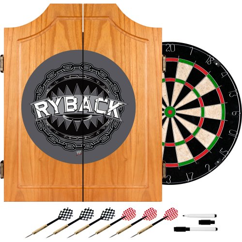 WWE Ryback Wood Dart Cabinet Set by Trademark Gameroom