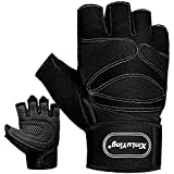 MOREOK Lightweighted Workout Gloves, Breathable...