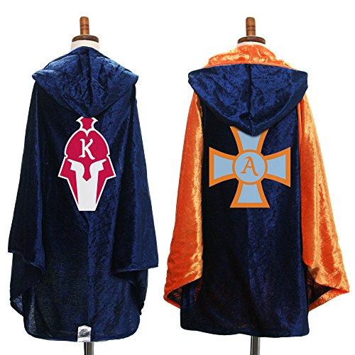 Everfan Personalized Kids Hooded Cape | Children's Cloak with Hood (Navy Blue) ()