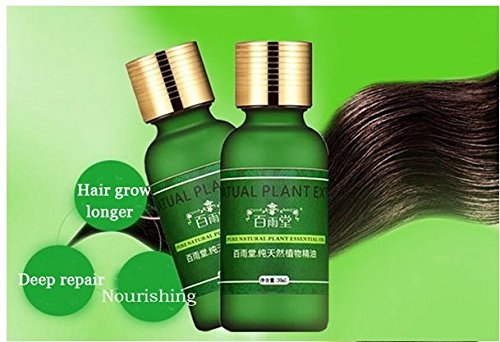 Natural Plant Extract Rapid Hair Growth Essence Essential Oil Liquid Ginseng Ginger Herbal Pure by shopIdea