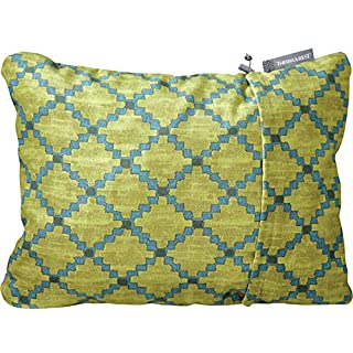Therm-a-Rest Compressible Travel Pillow for Camping, Backpacking, Airplanes and Road Trips, Lichen, Large - 16 x 23 Inches