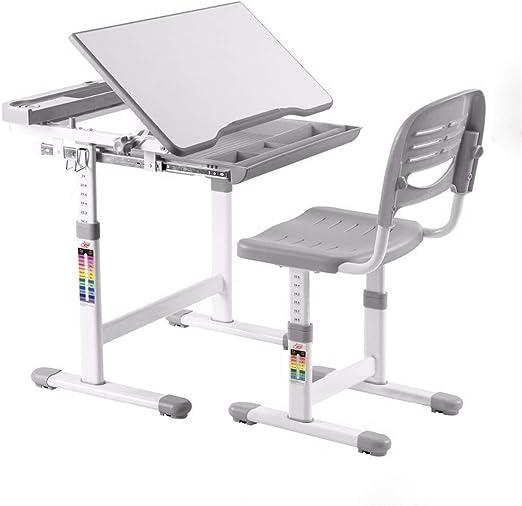 Juego de sillas de escritorio de altura ajustable para niños, mesa ...