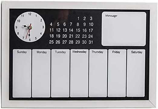 Tablero de Mensajes decoración de la Pared decoración del Reloj Pizarra Organizador de Pared tablón de anuncios de Pared Pizarra de Tiza: Amazon.es: Hogar