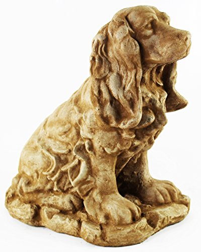 Cocker Spaniel Statue Home and Garden Statues Cement Figures ()