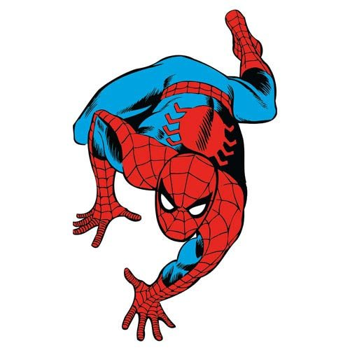 Roommates Rmk2355Gm  Marvel Classic Spiderman Peel And Stick Giant Wall Decals