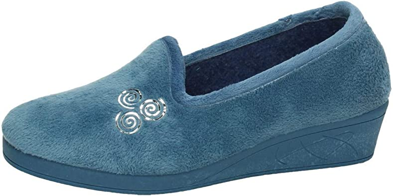 KOKIS 3001 BABUCHAS Cerradas Mujer Zapatillas CASA AZULÓN 36: Amazon.es: Zapatos y complementos