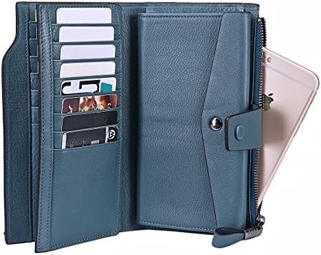 Drone Leather Purse LP with Zipped Compartments RFID Protected Ladies Gift 518
