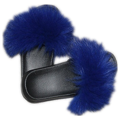 Women Real Fox Fur Feather Vegan Leather
