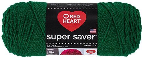 Red Heart  E300 Super Saver Economy Yarn, Paddy Green