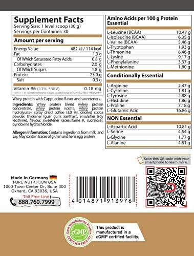 Pure Nutrition WHEY PROTEIN Mix Konzentrat|Molkenproteinpulver Muskelaufbau Hydrolysat|Low Carb Fat Ohne Zucker|Erdbeere Schoko Vanille Cocos Haselnuss Molke Eiweiß Pulver Standard|15|30|76 Portionen
