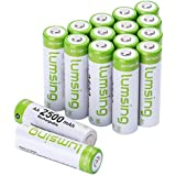 Rechargeable AA Batteries(16-Counts) Pre-charged AA 2500mAh Ni-MH Batteries