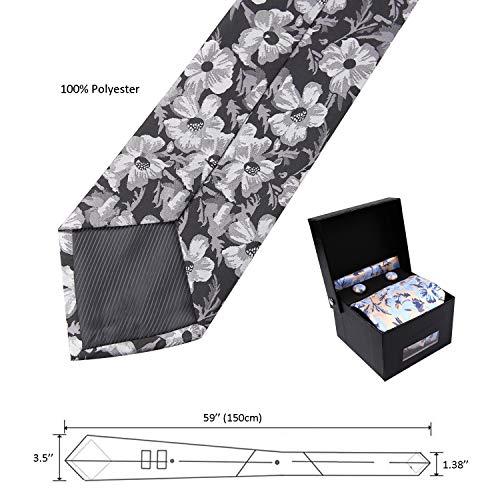De Alizeal Jaune cravate Pochette Homme Lot Boutons Manchette wXxqXSPUp
