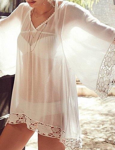 skt-swimwear Damen Fashion massiv Chiffon swimwer Bikini Beach Cover up Sun Prävention Mini Kleid