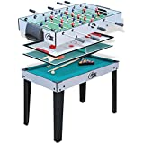 a3544e9cd1c32 Homcom Table Multi Jeux 4 en 1 babyfoot Billard air Hockey ping-Pong ...