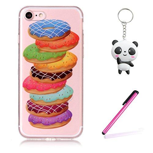 Coque iPhone 7 / iPhone 8 Hamburgers en couleur Premium Gel TPU Souple Silicone Transparent Clair Bumper Protection Housse Arrière Étui Pour Apple iPhone 7 / iPhone 8 + Deux cadeau