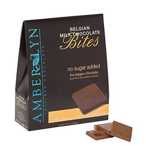 Amber Lyn Milk Chocolate Tasting Bites - No Sugar Added (10oz (Amber Chocolate)