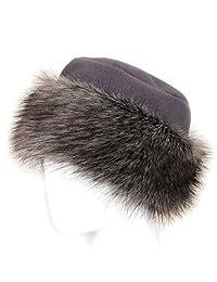 Futrzane Faux Fake Fur Hat with Fleece Russian Cossack Winter Ladies Women