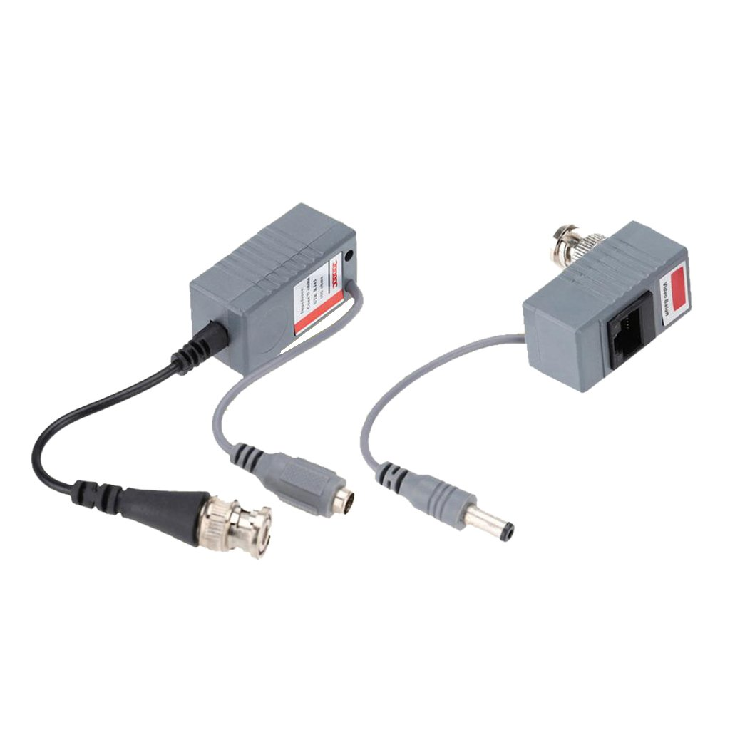 IPOTCH 2X Tranceptores de BNC RCA Conectores Macho de CC Balun Video Audio Hembra Jack: Amazon.es: Electrónica