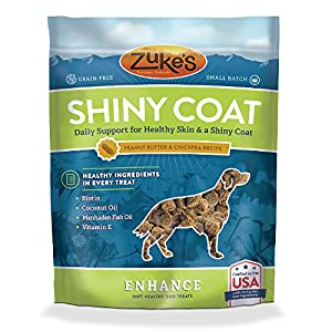 Zuke's Enhance Shiny Coat Peanut Butter & Chickpea Recipe Dog Treats - 5 oz. Pouch
