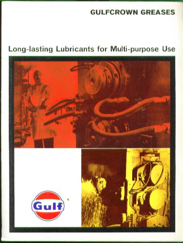 Gulf Gulfcrown Grease EP & RR Lubricant brochure 1960s at