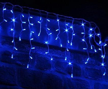 Snowing Christmas Lights.Set 360 Led Supabright Blue Led Snowing Icicle Christmas