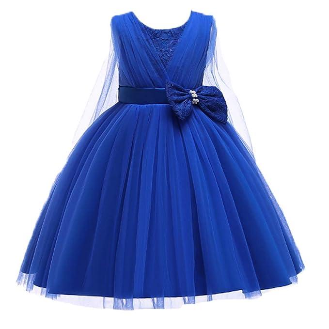 Abbigliamento sportivo Ohmais Gonna da Sposa Ragazza Abiti a Fiori in Pizzo Vestito da Principessa delle Feste Vestiti Bambina Eleganti da Cerimonia Abbigliamento sportivo