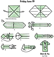 Origami Tie and Shirt folding instructions | Origami shirt ... | 200x186
