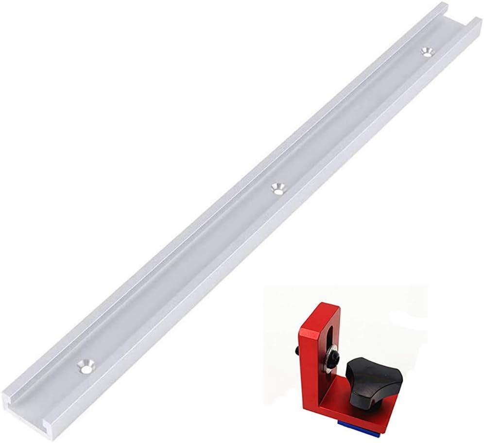 30 Typ Aluminium T-Schienen Holzbearbeitungsrutsche T-Schlitz Gehrungswerkzeug mit 1 T-Schlitzschraube f/ür Holzbearbeitung//DIY Holzfr/äswerkzeug 800MM