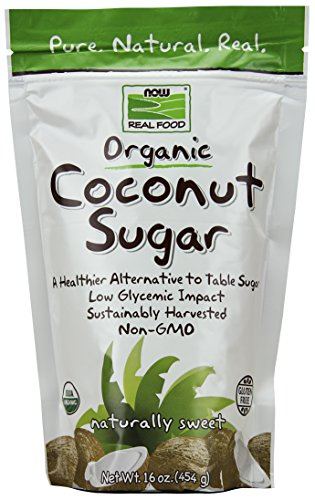 Now Foods Organic Coconut Sugar, 16 Ounce
