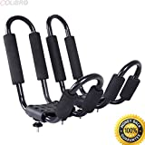 COLIBROX--2 Pair Canoe Boat Kayak Roof Rack Car SUV Truck Top Mount Carrier J Cross Bar. double canoe roof rack. kayak on roof rack upside down. best kayak wall mount home depot easy to use.