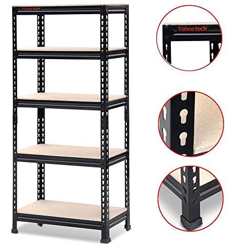 top best 5 steel heavy duty 5 shelf shelving unit for sale. Black Bedroom Furniture Sets. Home Design Ideas