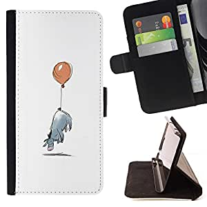 Momo Phone Case / Flip Funda de Cuero Case Cover - Minimalista Cartoon Kids - Samsung Galaxy S6 Edge Plus / S6 Edge+ G928