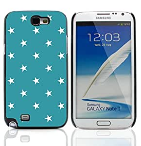 Graphic4You Stars Pattern Design Thin Slim Rigid Hard Case Cover for Samsung Galaxy Note 2 (Turquoise)