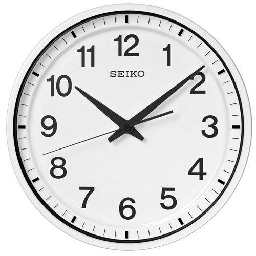 (セイコークロック) SEIKO CLOCK GPS衛星 電波 壁掛け時計 GP214W オフィスタイプ スイープセコンド 白塗装 ホワイト アナログ B00TSAYCQQ