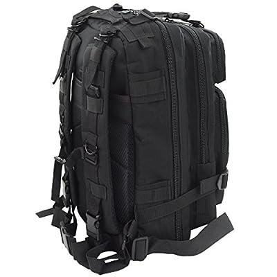 Marrywindix Black Sport Outdoor Military Rucksacks Tactical Molle Backpack Camping Hiking Trekking Bag