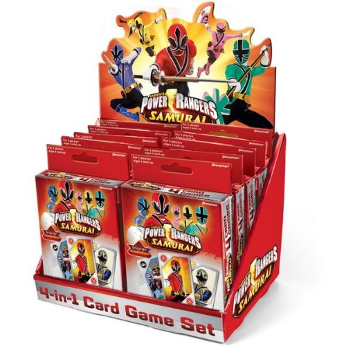 Power Rangers Samurai 4 in 1 Card Game (Red) Party Accessory (Power Ranger Games Power Ranger Games)