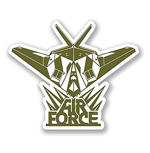 3 Pack - Air Force Jet Luggage Vinyl SELF ADHESIVE STICKER Decal - Sticker Graphic - Construction Toolbox, Hardhat, Lunchbox, Helmet, Mechanic, Luggage