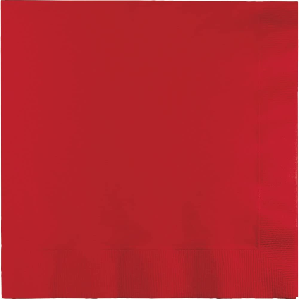 250-Count Touch of Color 3-Ply Paper Dinner Napkins, Classic Red