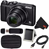 Nikon COOLPIX A900 Digital Camera (Black) 26501 International Model + Small Case + Micro HDMI Cable + SD Card USB Reader + Memory Card Wallet + MicroFiber Cloth Bundle