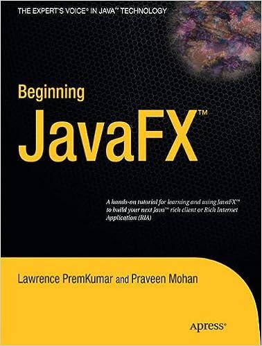 Beginning JavaFX