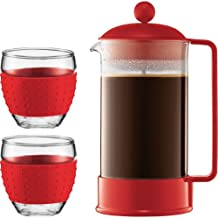 Bodum Brazil French Press Coffee Maker Red