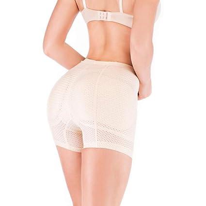 QQA Mujeres Bragas Acolchadas sin Costura Inferior Esponja Media Cintura Enhancer Hip,M: Amazon.es: Hogar