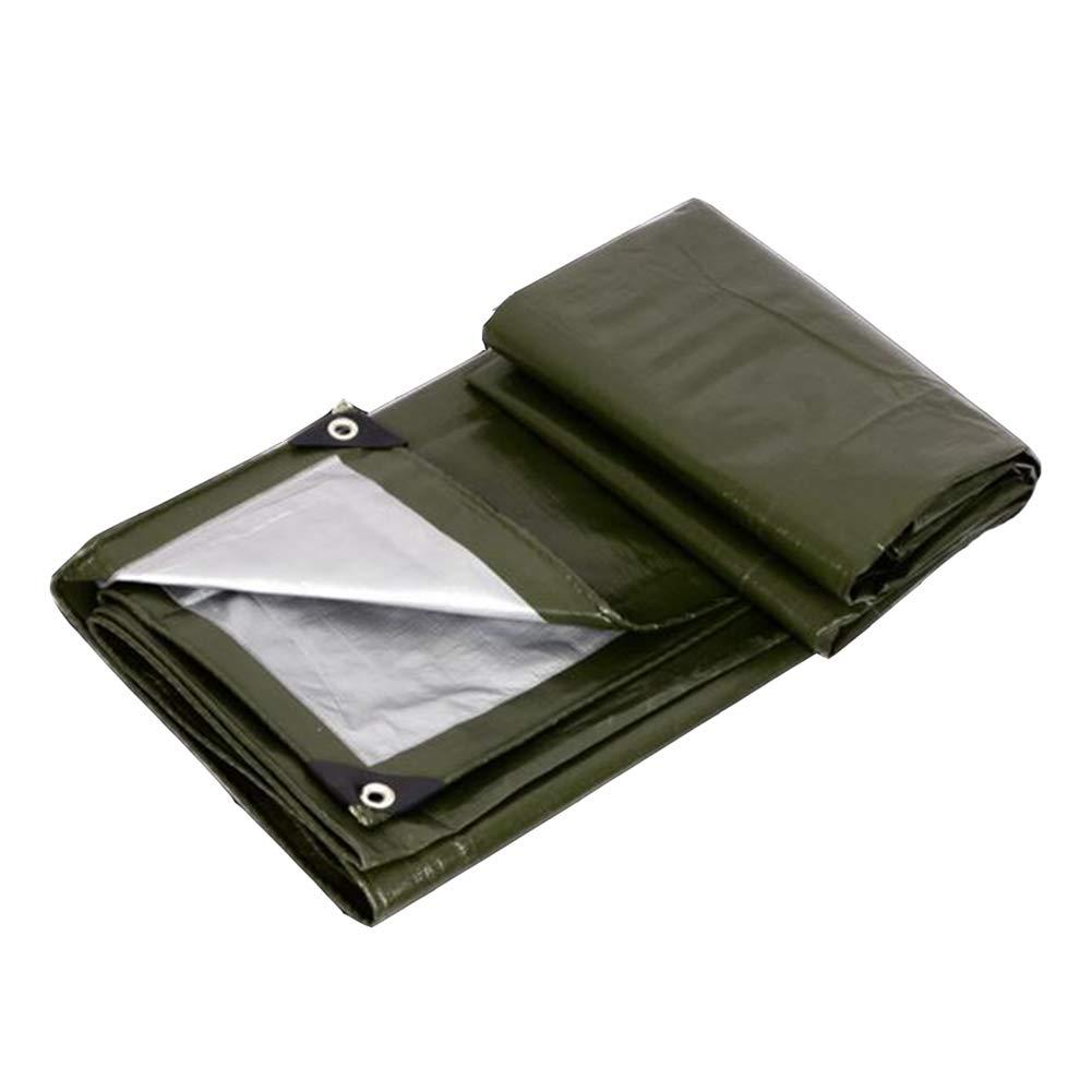 DALL ターポリン タープ 防水 防水性のある 日焼け止め 耐摩耗性 アウトドア キャンプ シェード布 (色 : 緑, サイズ さいず : 5×8m) 5×8m 緑 B07KZSLCP6