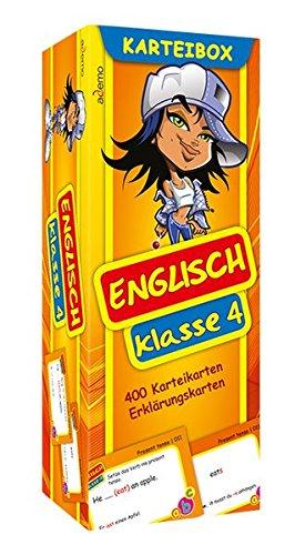 Karteibox Englisch Klasse 4: mit farbigen Karteikarten
