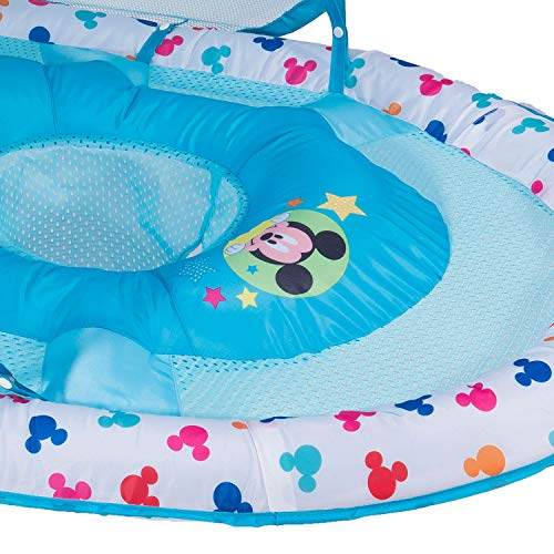 SwimWays Inflatable Infant Baby Swimming Pool Float w/Canopy, Mickey Mouse (2 Pack) by SwimWays (Image #7)