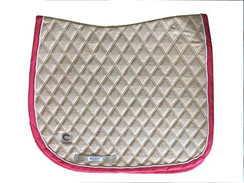 Connoisseur Collection Arnie Dressage Saddle Pad (Khaki) ()