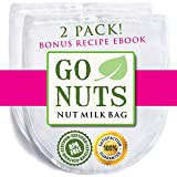 2-PACK Best Nut Milk Bag - Restaurant Commercial Grade by GoNuts -...